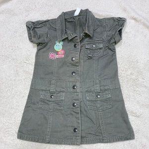 Carter's Girl's Denim Dress Moss Green size 3T